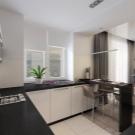 шторы на кухню длиные