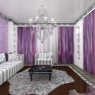 сиренево белые шторы