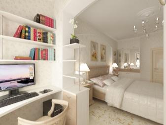 дизайн узкой спальни 72 фото реальные идеи интерьера комнаты в