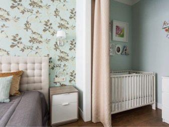 Спальня и детская в одной комнате (54 фото): зонирование совмещенной комнаты, дизайн интерьера для ребенка и родителей