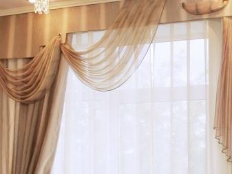 Ламбрекены для зала (53 фото): дизайн жестких ламбрекенов для гостиной, новинки 2018