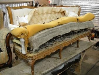 Как перетянуть диван угловой своими руками пошагово