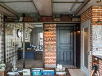 Шкафы в стиле - лофт - (42 фото): трехдверные модели с ящиками для одежды и витриной