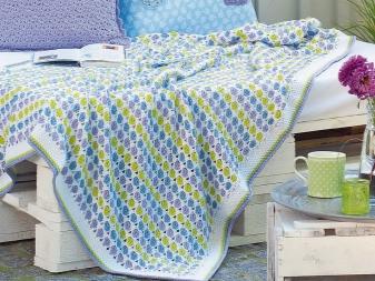 вязаные пледы 79 фото плед крупной вязки тунисское вязание