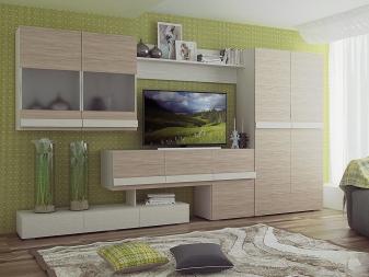 Шкафы в гостиную (57 фото): современные подвесные шкафы для одежды в гостиную и зал, интересные идеи и дизайн с печатью