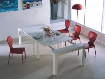 Консольный стол-трансформер (33 фото): раздвижные, раскладные и превращающаяся модели, особенности конструкций