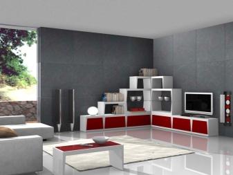 Модульная мебель для гостиной (65 фото): белая угловая стенка в современном стиле, мебельные модули из Италии и Белоруссии, подвесные системы со шкафом и с компьютерным столом