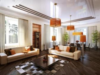 Декор гостиной в частном доме (94 фото): красивые варианты дизайна зала, как оформить комнату в деревянном доме