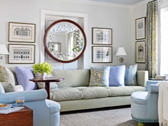 Зеркала в интерьере гостиной (47 фото): способы расширения пространства с помощью зеркал на стенах, зеркальная настенная плитка в дизайне интерьера