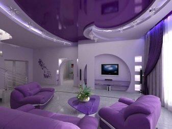 Двухуровневые потолки из гипсокартона с подсветкой (38 фото): как смонтировать и как сделать подсветку по двойному периметру