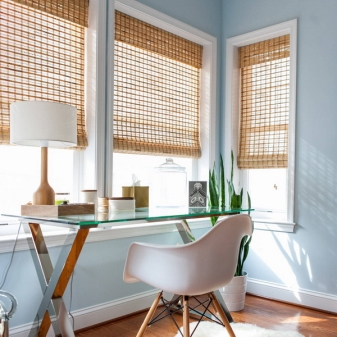 Бамбуковые шторы (53 фото): как установить рулонные жалюзи на окна, сочетание с занавеской, отзывы