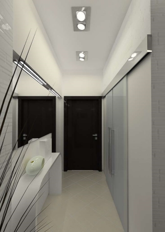 узкий коридор в квартире дизайн фото в панельном доме 6