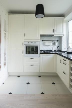 Планировка кухни площадью 9 кв. м с холодильником