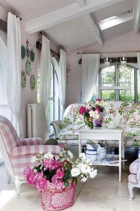 спальня шторы прованс