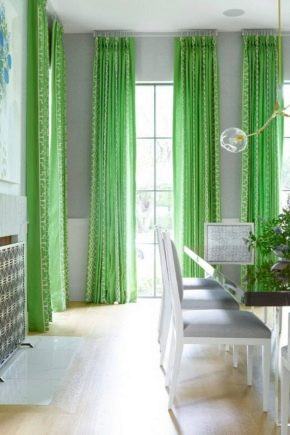 жаккард шторы зеленый