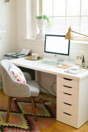 Белый стол Ikea