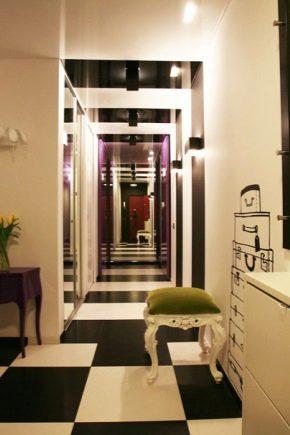 Обустройство и дизайн длинного коридора