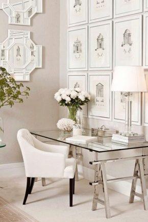 Стеклянные столы в современном интерьере