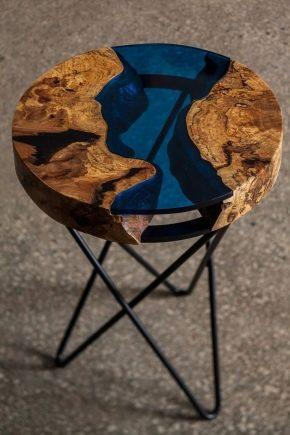 Стол из эпоксидной смолы – необычная деталь интерьера