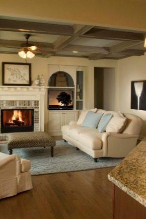 Тонкости ремонта гостиной в частном доме