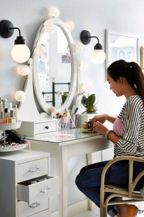 Угловые туалетные столики с зеркалом: советы по выбору