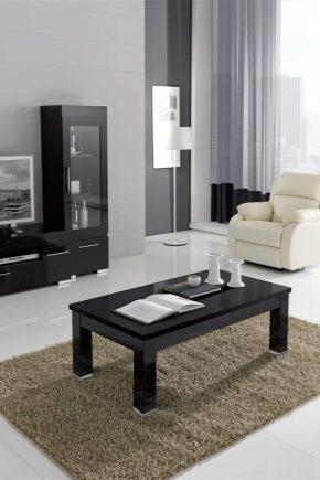 Журнальные столы в интерьере гостиной: красивые идеи оформления