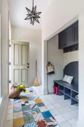 Цветная напольная плитка в дизайне интерьера