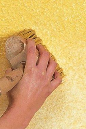Тонкости процесса покраски декоративной штукатурки