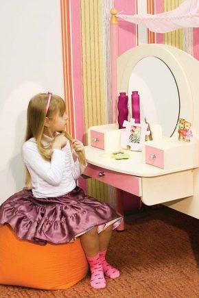 Детские трюмо с зеркалом для девочек: особенности выбора