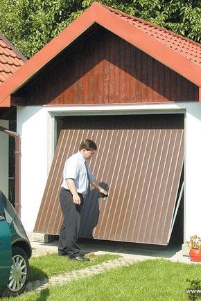 Самодельные гаражные ворота своими руками 137