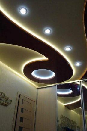 Двухуровневый потолок из гипсокартона своими руками с подсветкой чертеж фото 415