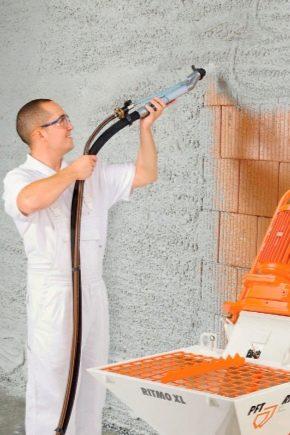 Механизированная штукатурка для стен: плюсы и минусы