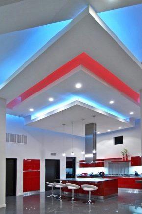 Потолки из гипсокартона: виды конструкций и дизайн