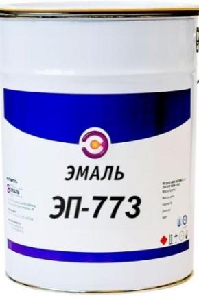 Эмаль ЭП-773: свойства и применение