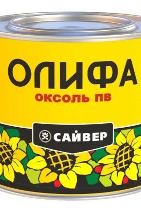 Выбираем олифу «Оксоль»