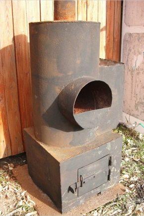 Как сделать банную печь из трубы?