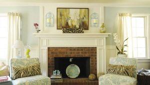 Белый камин – нотки роскоши в интерьере
