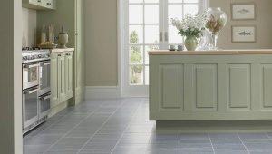 Дизайн плитки для пола и ламината на кухню и в прихожую