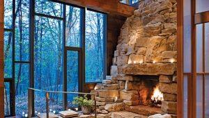 Камины из натурального камня