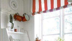 Кухонные шторы – современный стиль для маленькой кухни