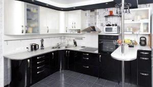 Маленькие угловые кухни с барной стойкой