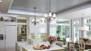 Потолок на кухне из пластиковых панелей