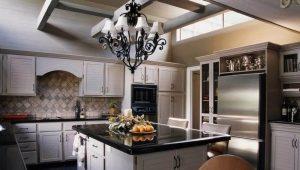 Современные люстры на кухню