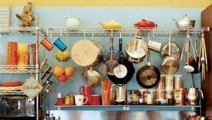 Аксессуары для кухни на рейлингах и навесное оборудование