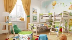 Детская двухъярусная кровать из массива дерева