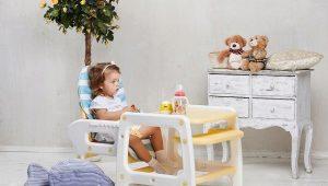Детский стульчик-трансформер со столом для кормления
