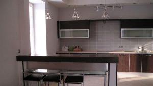 Дизайн кухни-студии с барной стойкой