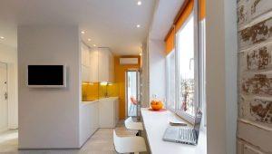 Дизайн студии площадью 22 кв. м