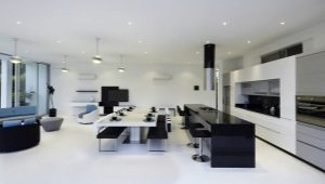 Интерьеры кухни-гостиной в современном стиле