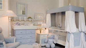 Кроватка для новорожденных с балдахином